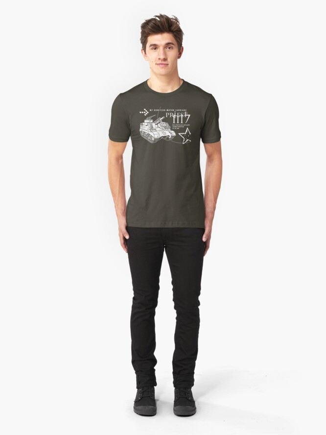 Alternate view of M7 Howitzer - Priest Slim Fit T-Shirt