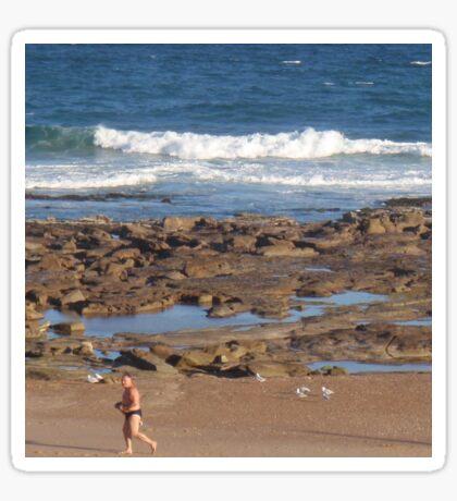 Beach Runner Sticker