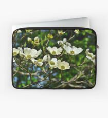 White Blossoms Laptop Sleeve