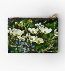 White Blossoms Studio Pouch