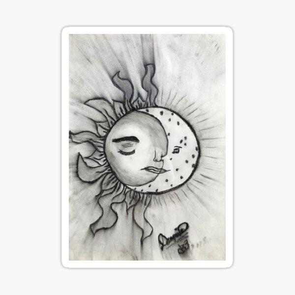 Serene Sun & Moon Sticker