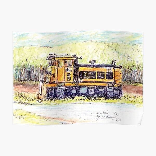 Australian Scene - Cane train - Garradunga, Qld, Aus. Poster