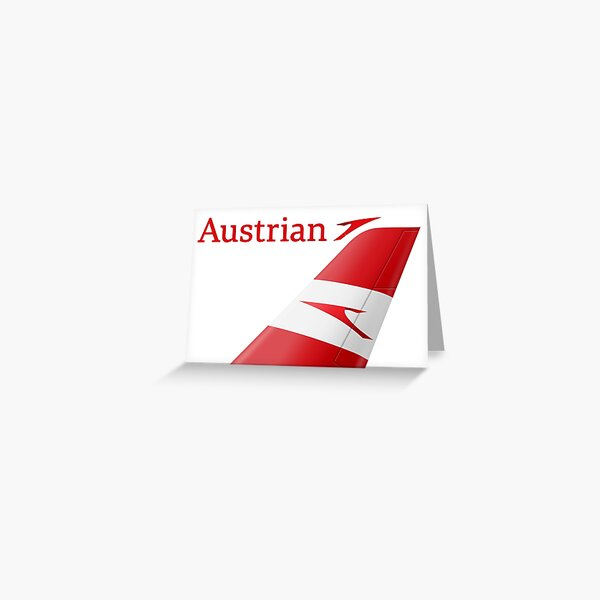 Austrian Airlines logo Greeting Card
