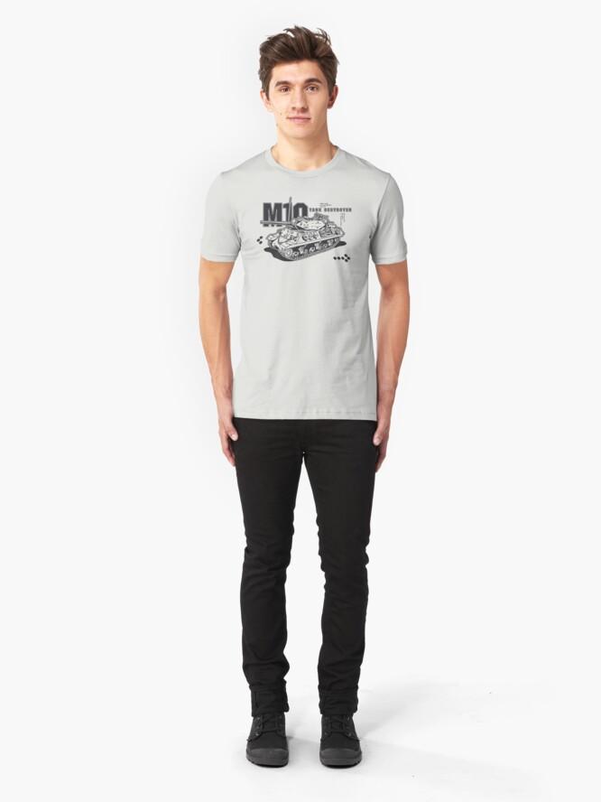 Alternate view of M10 Tank Destroyer Slim Fit T-Shirt
