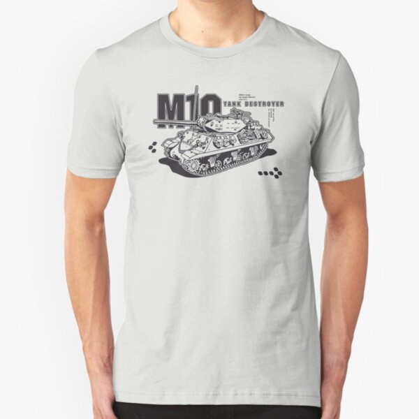 M10 Tank Destroyer Slim Fit T-Shirt