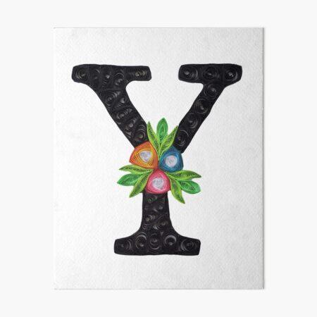Paper Quilling Monogram Y Art Board Print