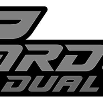 Carducci Dual Sport Logo on 3/4 Sleeve B&W Tee by CarducciDulSprt