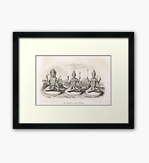 The Trimurti or Hindu Trinity 3 forms Framed Print