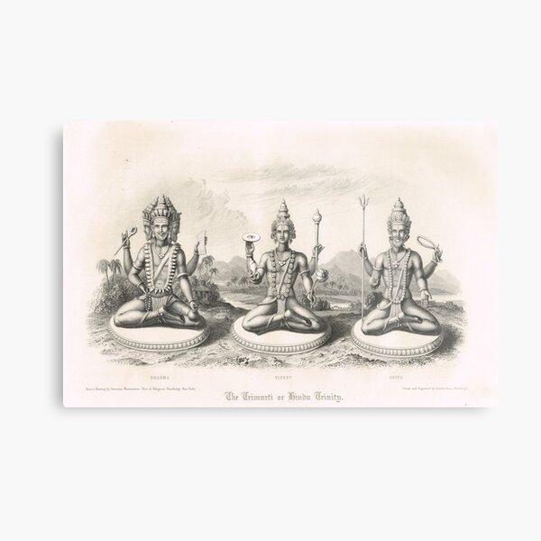 The Trimurti or Hindu Trinity 3 forms Metal Print