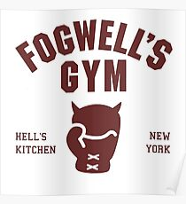 Fogwell's Gym Poster