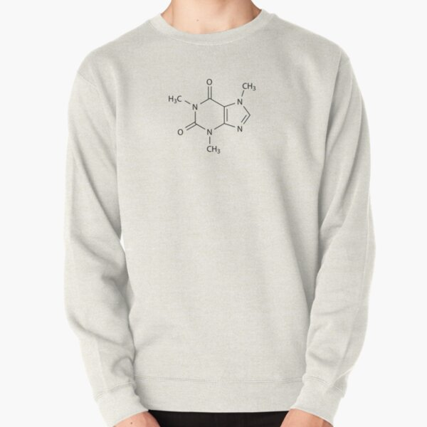 Caffeine Chemical Structure (C8H10N4O2) Pullover Sweatshirt