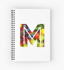 The Letter M - Fruit Spiral Notebook