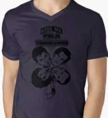 Kiss Me, I'm a Timelord Men's V-Neck T-Shirt