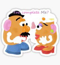 Mr and Mrs Potato Head- You Complete Me? Sticker