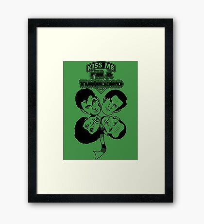 Kiss Me, I'm a Timelord Framed Print