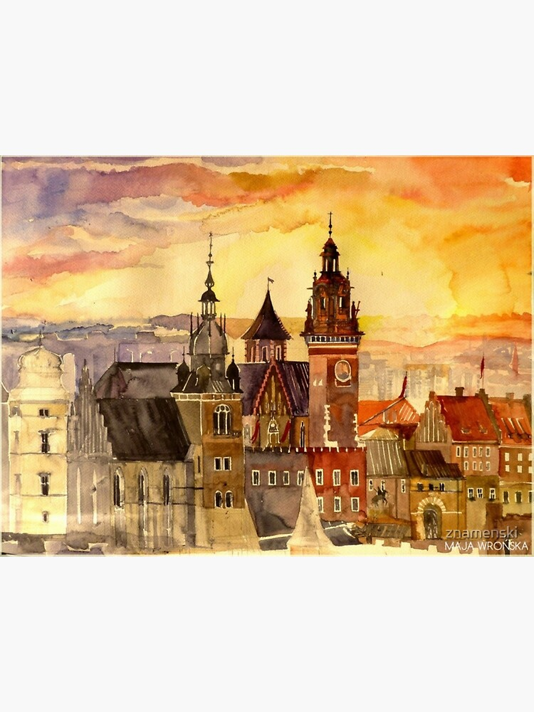 Polish artist Maja Wronska brings back watercolor sketches from her travels - Architecture Paintings by znamenski