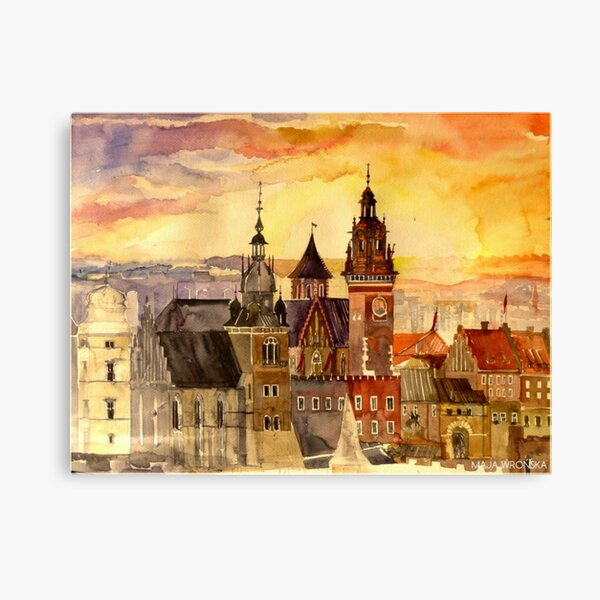 Polish artist Maja Wronska brings back watercolor sketches from her travels - Architecture Paintings Canvas Print