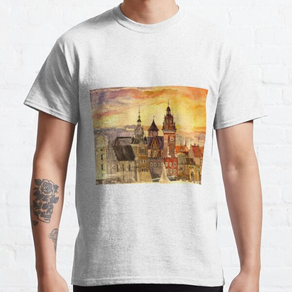 Polish artist Maja Wronska brings back watercolor sketches from her travels - Architecture Paintings Classic T-Shirt