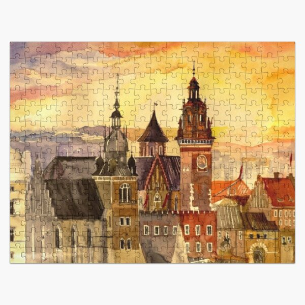 Polish artist Maja Wronska brings back watercolor sketches from her travels - Architecture Paintings Jigsaw Puzzle