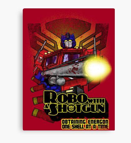 Robo With A Shotgun Canvas Print