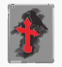 The Dark Crow on the holy cross iPad Case/Skin