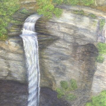Raccoon Creek Falls Watercolor Painting by redspearart