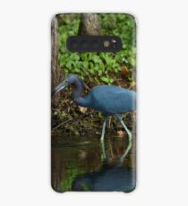 Little Blue Heron Reflection Case/Skin for Samsung Galaxy