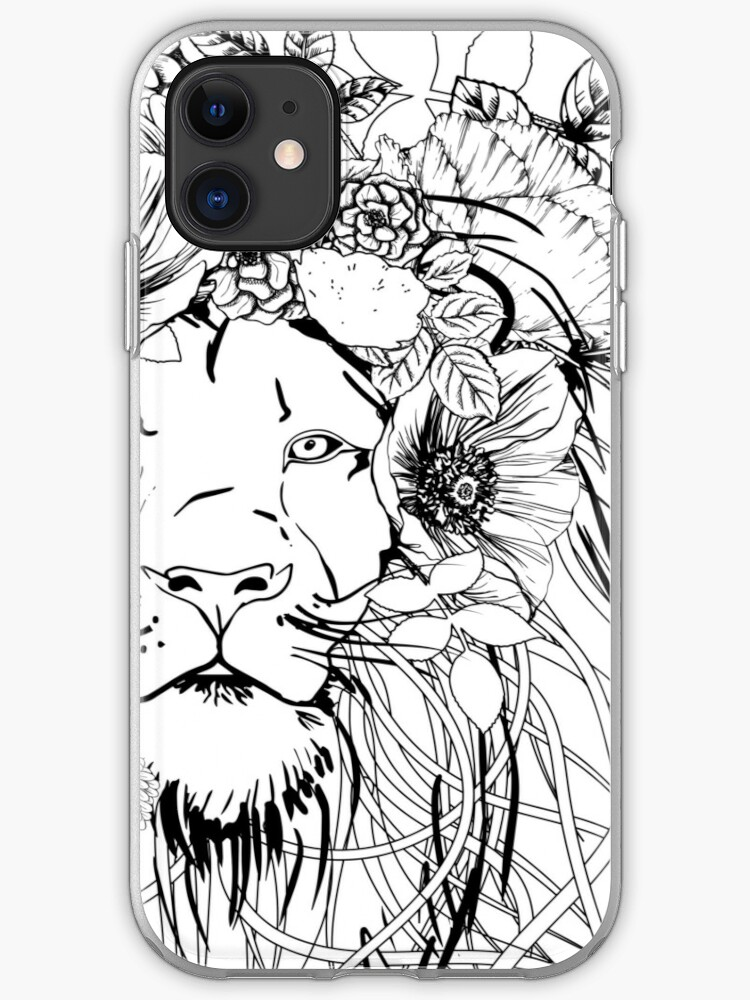 Floral lion iPhone 11 case