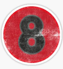 Eight 8 Sticker