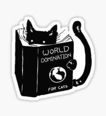 Pegatina Gato dominación del mundo