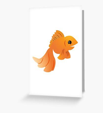 Elegant Golden pet goldfish Greeting Card