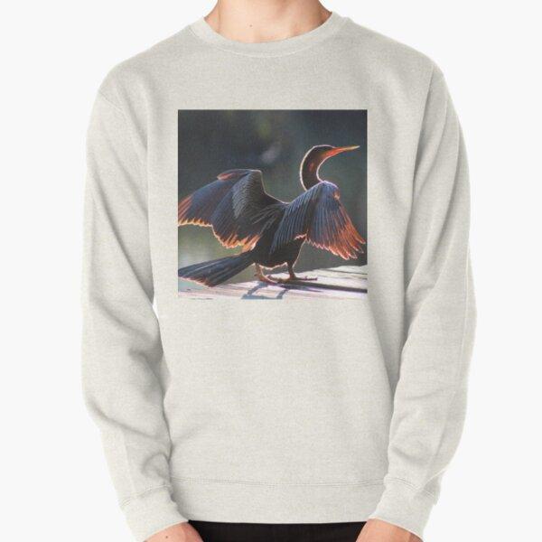 Anhinga Bird Pullover Sweatshirt