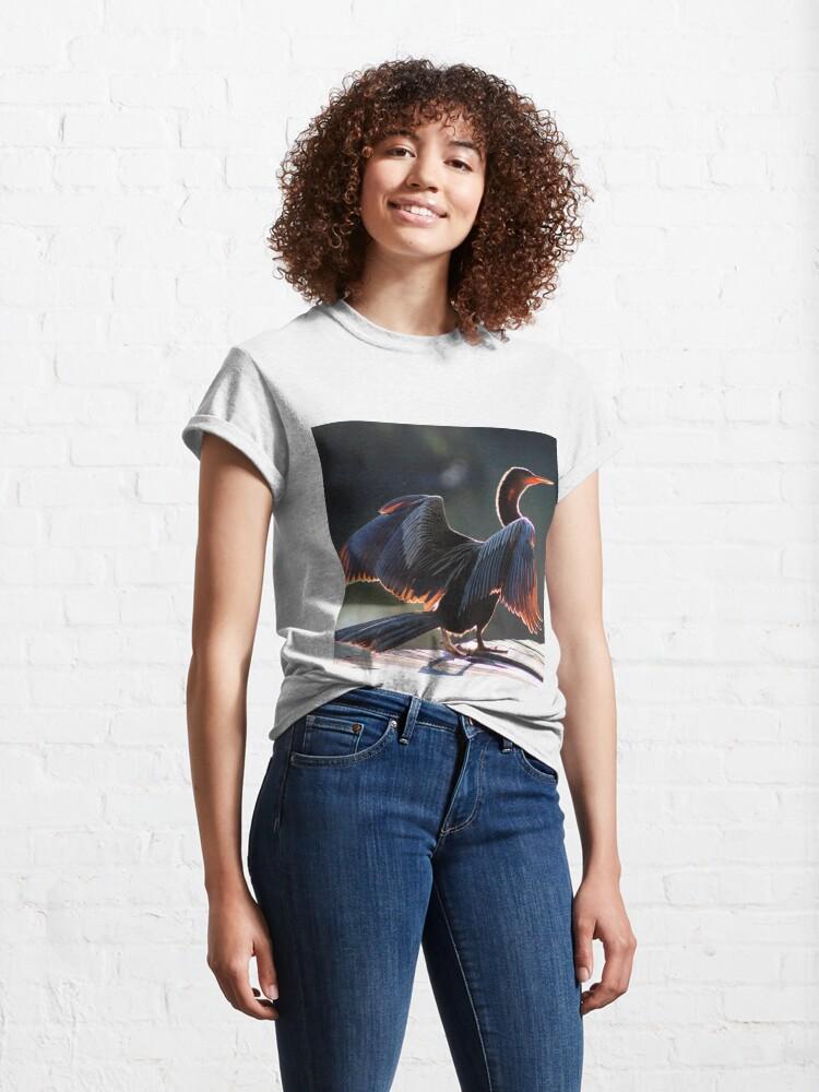 Alternate view of Anhinga Bird Classic T-Shirt