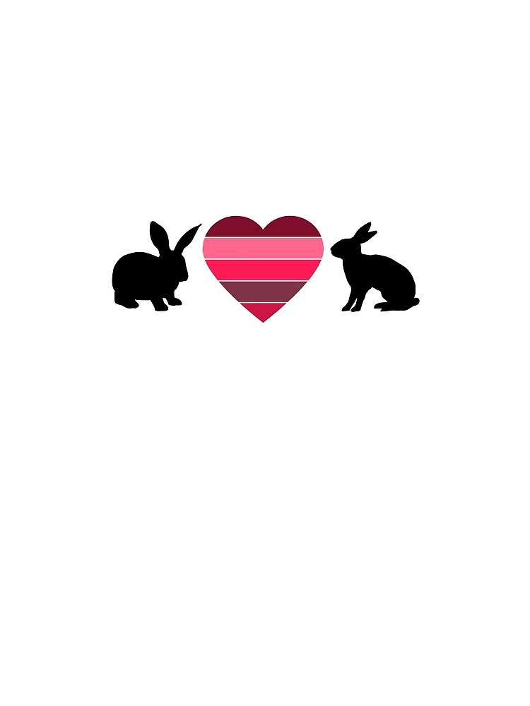 Valentine's Rose Red Heart Bunnies by mikepil
