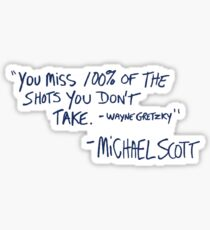 the office quote Sticker
