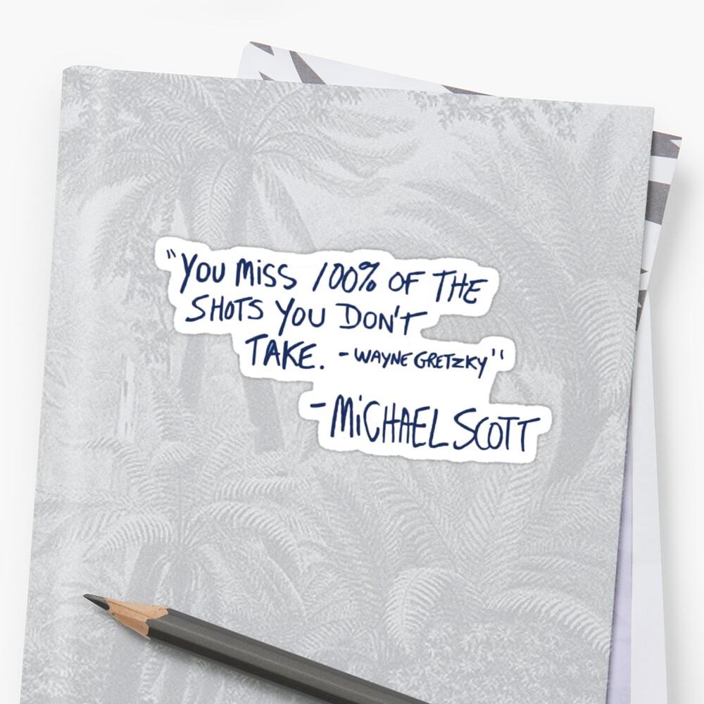 das Büro Zitat Sticker