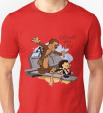Calvin And Hobbes Parody Unisex T-Shirt