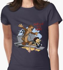 Calvin And Hobbes Parody Women's Fitted T-Shirt