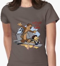 Calvin And Hobbes Parody Womens Fitted T-Shirt