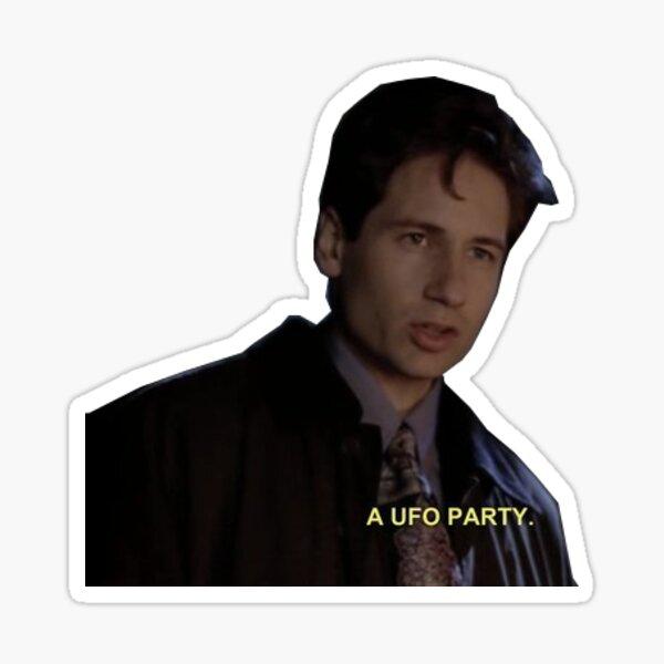 a ufo party Sticker