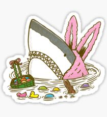 The Easter Shark Sticker