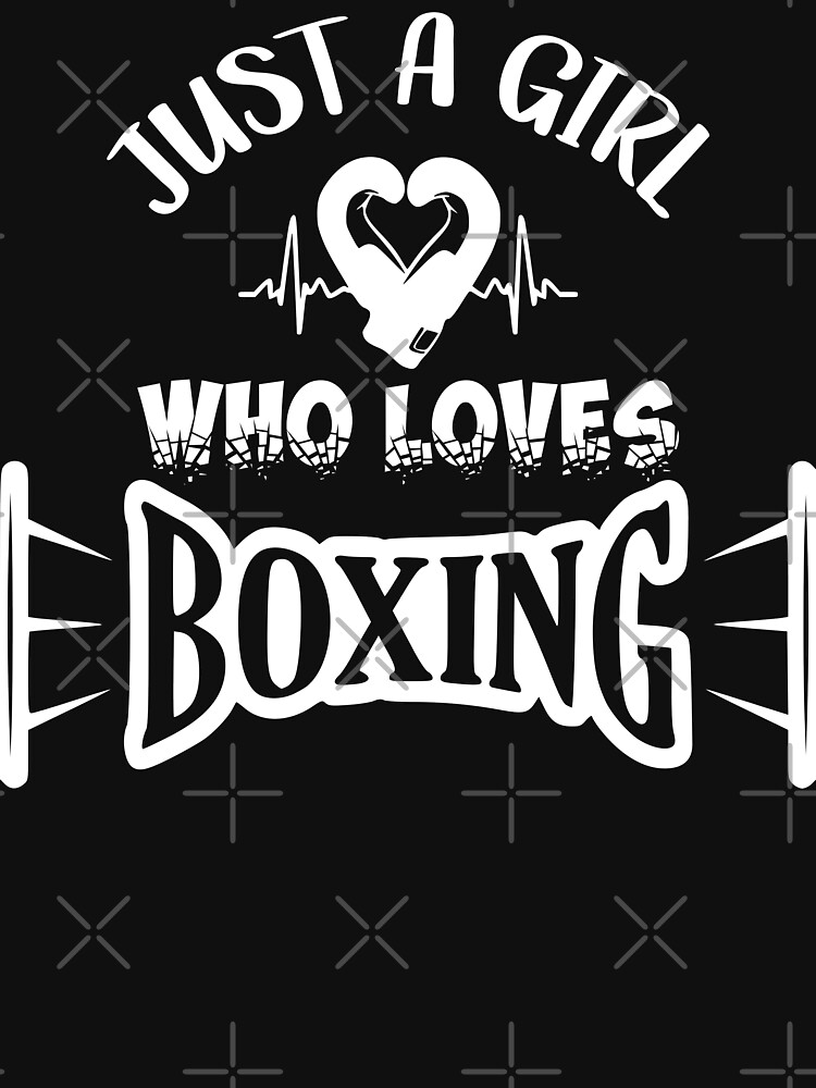 Just a girl loves boxing, girl boxing (white) by MickyDeeTees