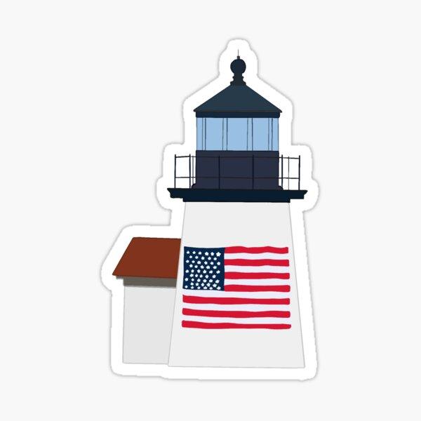 nantucket brant point lighthouse Sticker