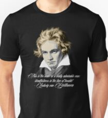 Beethoven Quote: admirable Unisex T-Shirt
