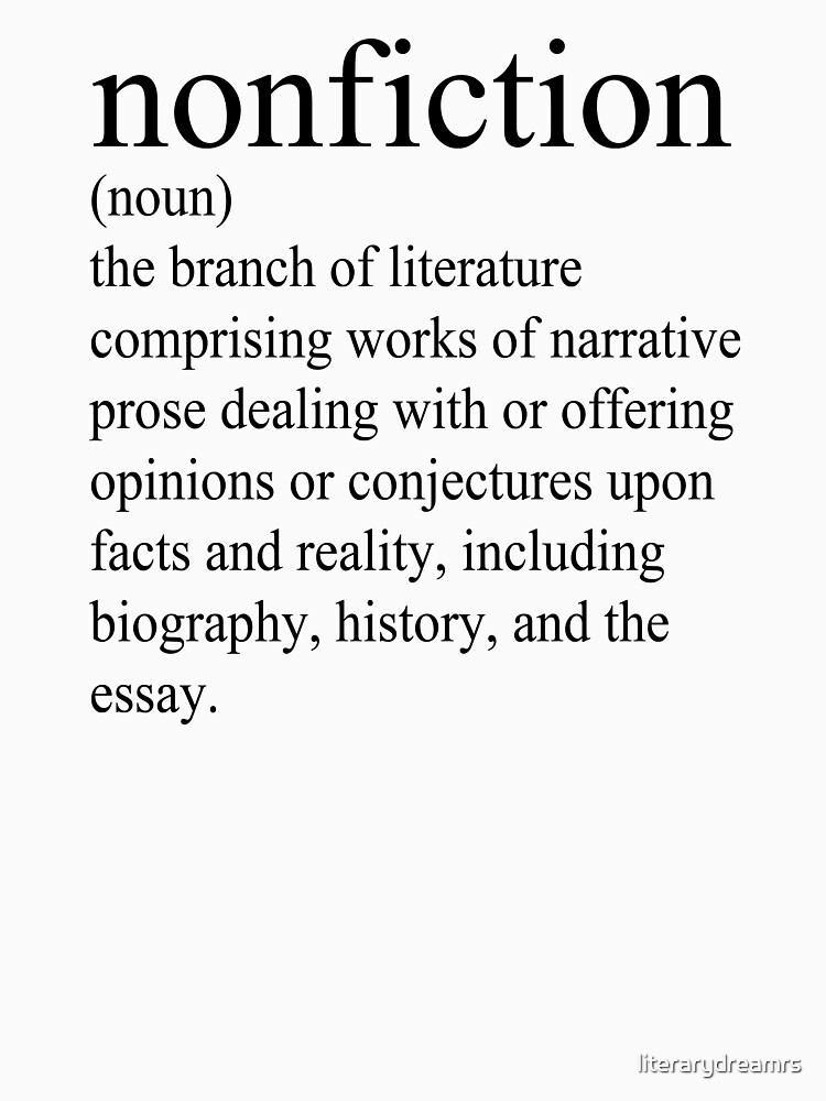 Non-Fiction Definition by literarydreamrs