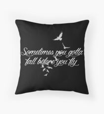 Who Are You Now? (black) Throw Pillow
