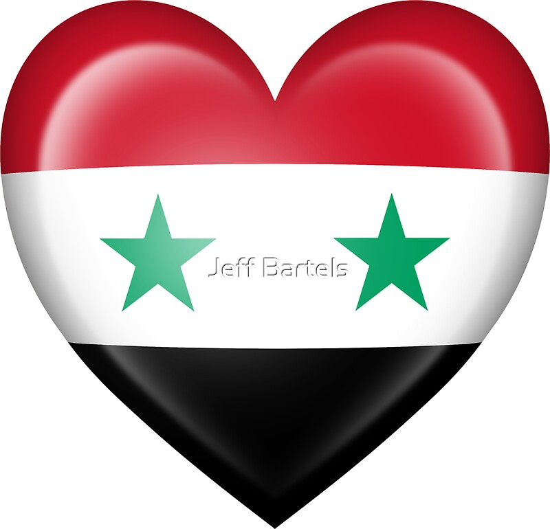 Syrian heart flag by jeff bartels