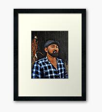 Sardonic Smile Framed Print