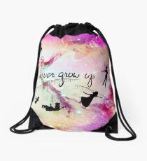 Never Grow Up  Drawstring Bag