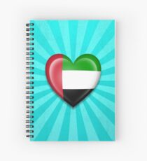 United Arab Emirates Heart Flag Spiral Notebook